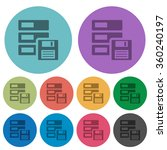 color backup flat icon set on...