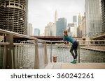 urban woman. city background | Shutterstock . vector #360242261