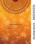 ethnic   colorful henna mandala ... | Shutterstock .eps vector #360244331
