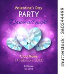 valentines day party flyer.... | Shutterstock .eps vector #360244499