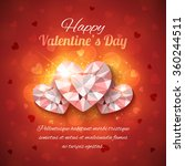 valentines day greeting card.... | Shutterstock .eps vector #360244511