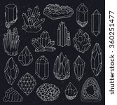 hand drawn vintage crystals... | Shutterstock .eps vector #360251477
