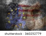 flags of usa and european union.... | Shutterstock . vector #360252779