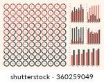 vector set ring diagrams ...   Shutterstock .eps vector #360259049