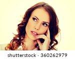 thoughtful businesswoman... | Shutterstock . vector #360262979