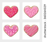 Heart Shape Cookies Vector...