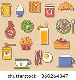 breakfast seamless vector... | Shutterstock .eps vector #360264347