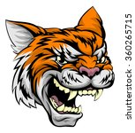 A Mean Looking Tiger Sports...