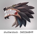illustration of wolf head ui...