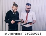 business man checking objects... | Shutterstock . vector #360269315