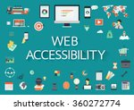 word web accessibility with... | Shutterstock .eps vector #360272774