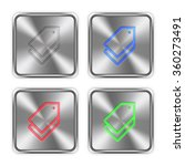 color tags icons engraved in...