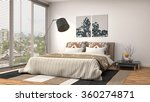 bedroom interior. 3d... | Shutterstock . vector #360274871