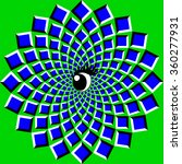 the optical illusion of... | Shutterstock .eps vector #360277931