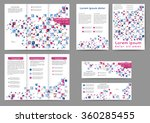 set of colored abstract... | Shutterstock .eps vector #360285455