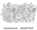 hand drawn zentangle floral... | Shutterstock .eps vector #360287564