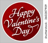 valentines day lettering... | Shutterstock .eps vector #360287909