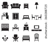 furniture icons | Shutterstock .eps vector #360288725