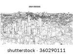 cityscape vector sketch.... | Shutterstock .eps vector #360290111