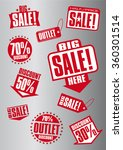 sale tags. sale banners set.... | Shutterstock .eps vector #360301514