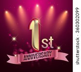 1st anniversary  party poster ... | Shutterstock .eps vector #360302099