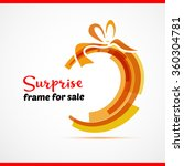 surprise gift card with red... | Shutterstock .eps vector #360304781