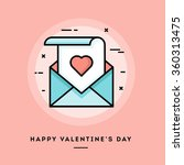 happy valentine's day  flat... | Shutterstock .eps vector #360313475