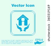 hand holding a house icon. home ... | Shutterstock .eps vector #360319169