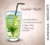 mojito fresh cocktail | Shutterstock .eps vector #360321875