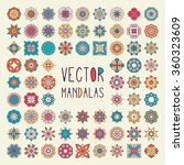 mandalas. vintage decorative... | Shutterstock .eps vector #360323609