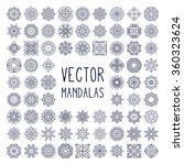 mandalas. vintage decorative... | Shutterstock .eps vector #360323624