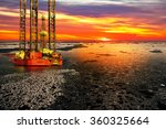 Offshore Oil And Rig Platform...