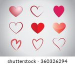heart set | Shutterstock .eps vector #360326294