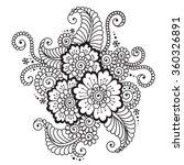 hand drawn abstract henna... | Shutterstock .eps vector #360326891