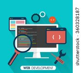web development concept with... | Shutterstock .eps vector #360328187