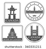 canada. vector. silhouette.... | Shutterstock .eps vector #360331211