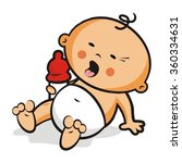 crying baby | Shutterstock .eps vector #360334631