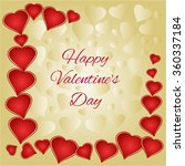valentines day gold and red... | Shutterstock .eps vector #360337184