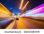blurred urban look of the car... | Shutterstock . vector #360338549