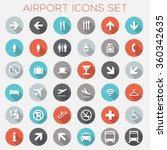 colorful airport signage icons... | Shutterstock .eps vector #360342635