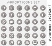 airport signage icons set  ... | Shutterstock .eps vector #360342647