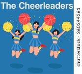 cheerleaders flat design  ... | Shutterstock .eps vector #360344261