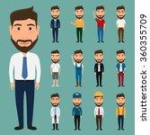 set of character man. people... | Shutterstock .eps vector #360355709