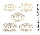 set of vector vintage luxury... | Shutterstock .eps vector #360358235