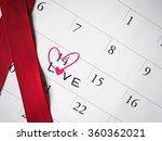 valentine day on calendar | Shutterstock . vector #360362021