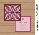 wedding invitation or greeting... | Shutterstock .eps vector #360362879