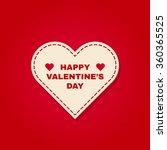 vector happy valentine's day ... | Shutterstock .eps vector #360365525