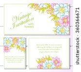 invitation with floral... | Shutterstock . vector #360366671