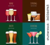 four cards with different... | Shutterstock .eps vector #360366965
