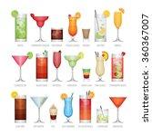 flat icons set of popular... | Shutterstock .eps vector #360367007
